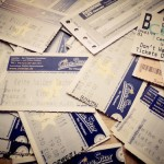 Some movie tickets