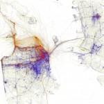 Eric Fischer - locals and tourists - San Francisco