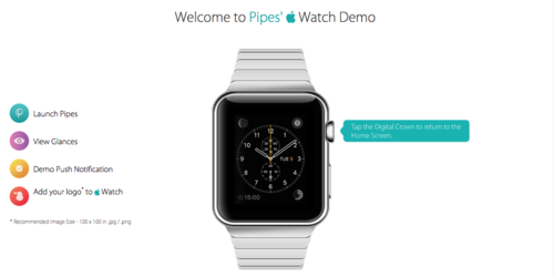 Pipes Apple Watch Demo
