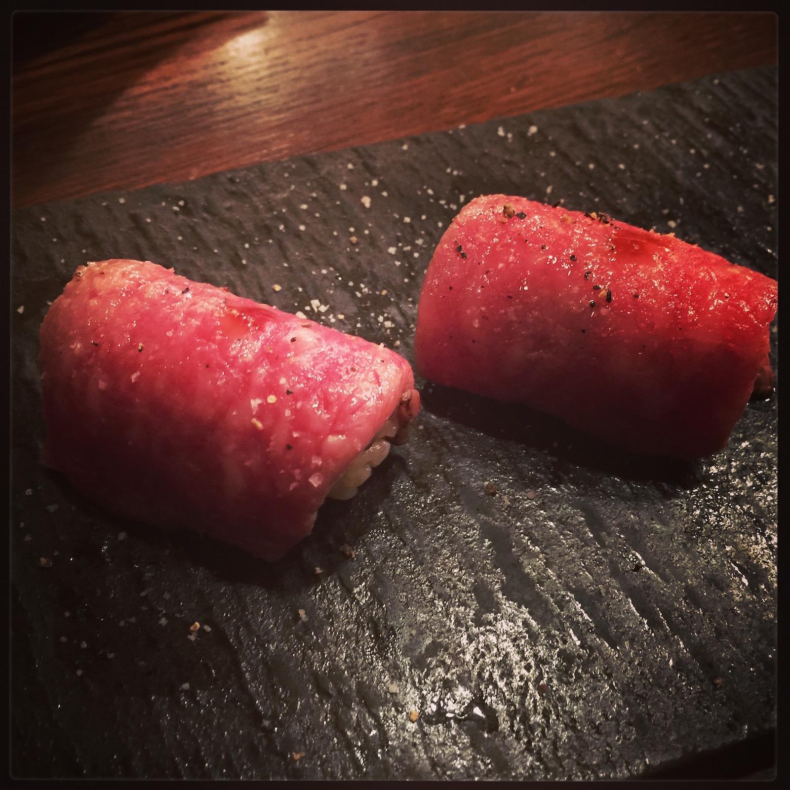 Akiko's Restaurant - a5 miyazaki wagyu nigiri