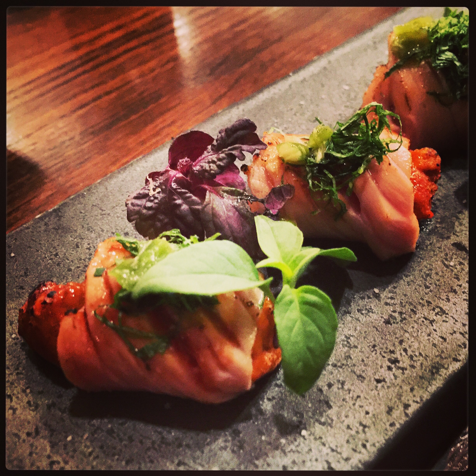 Akiko's Restaurant - chu toro and uni sashimi