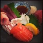 Akiko's Restaurant - ji-kinmedai, unimasu, isaki, hotate,mirugai, suna zuri, mebachi maguro sashimi