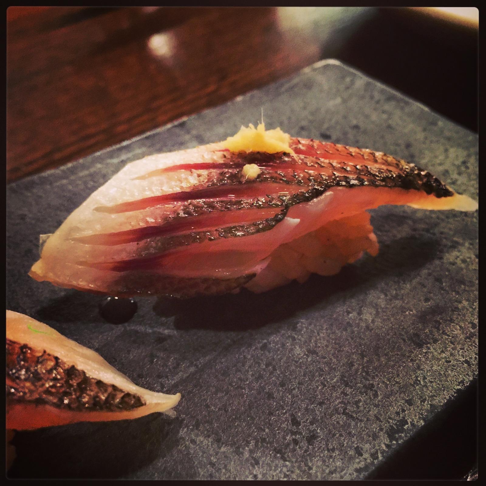 Akiko's Restaurant - kamasu nigiri