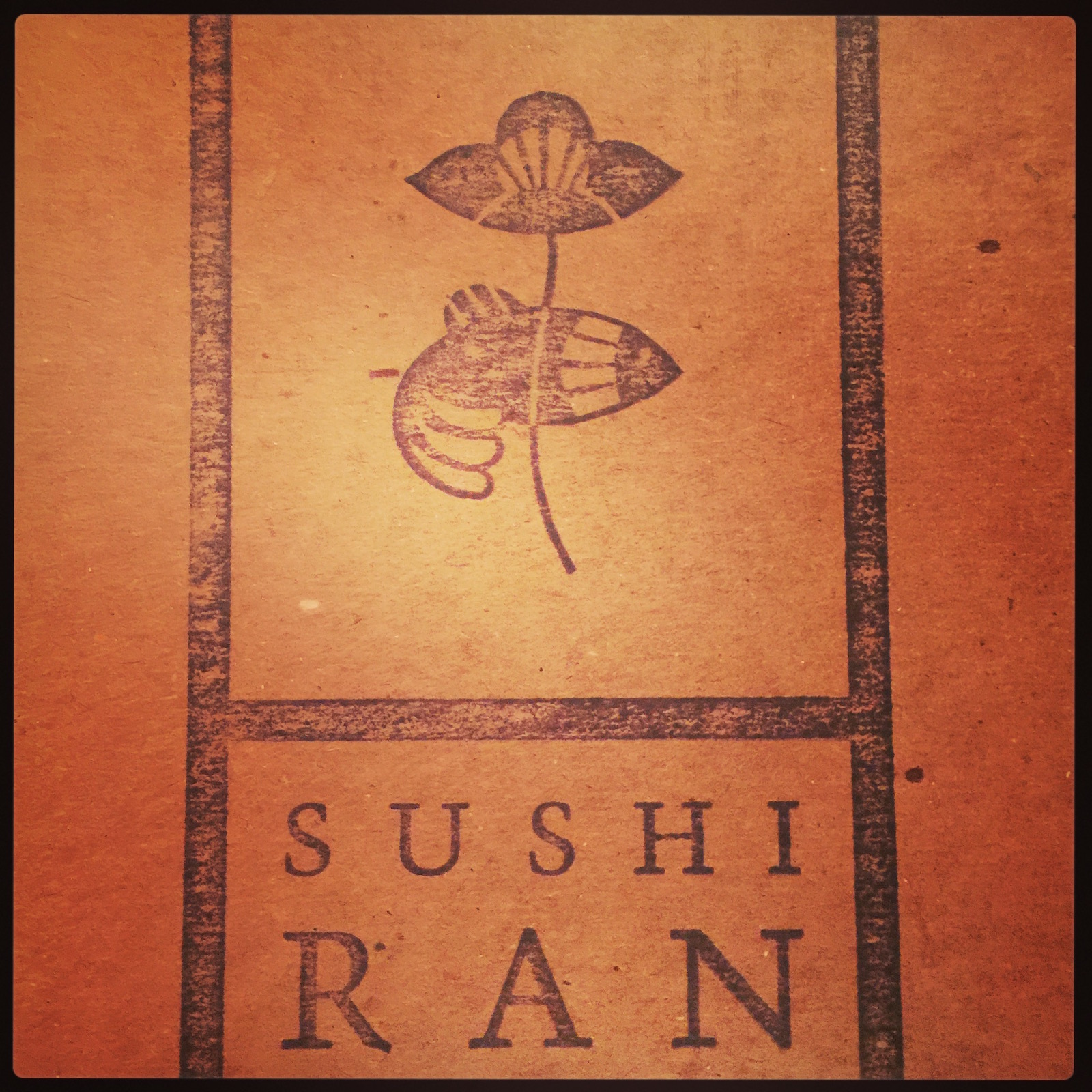 Sushi Ran - menu