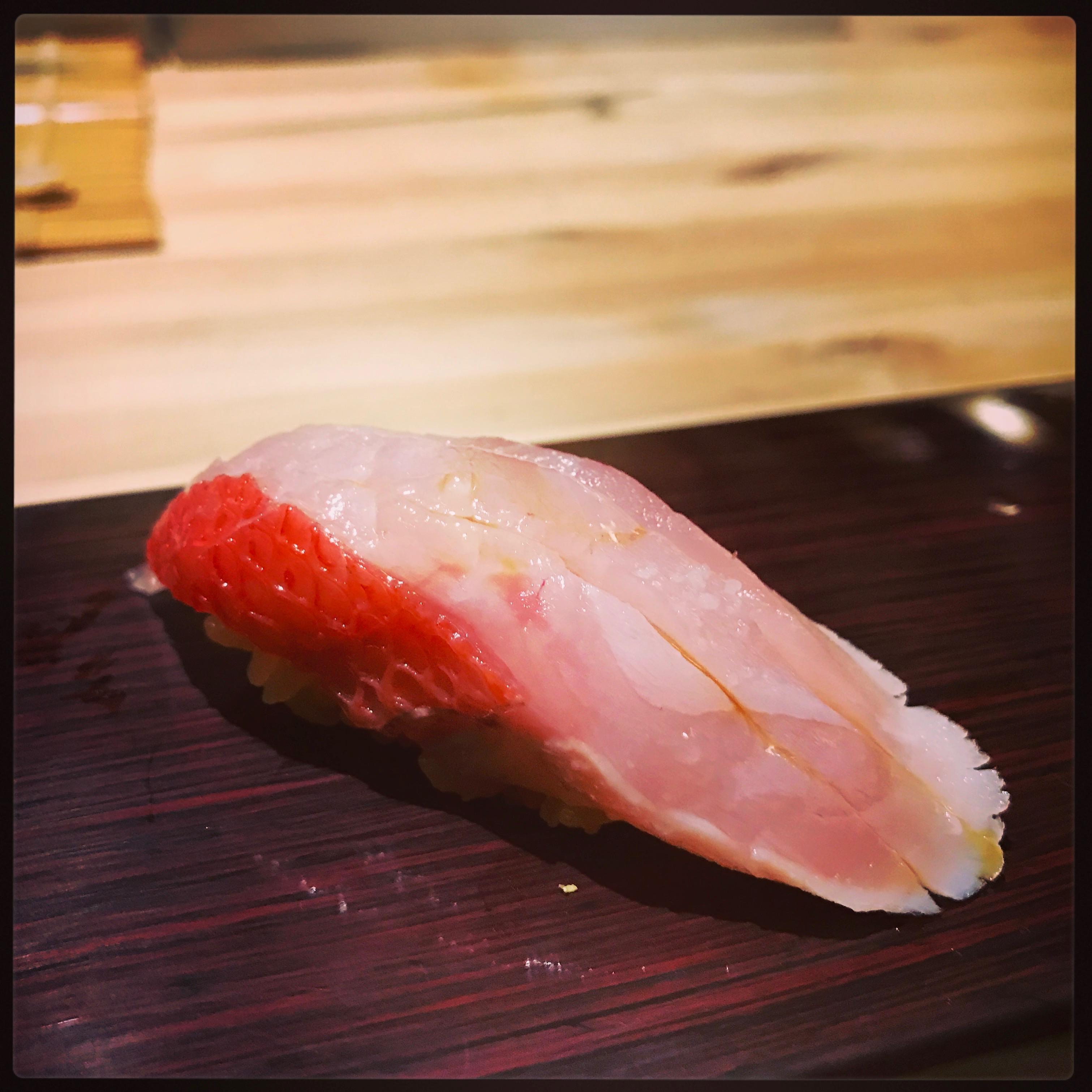 Sushi Ran - omakase - buri toro willd yellowtail belly nigiri