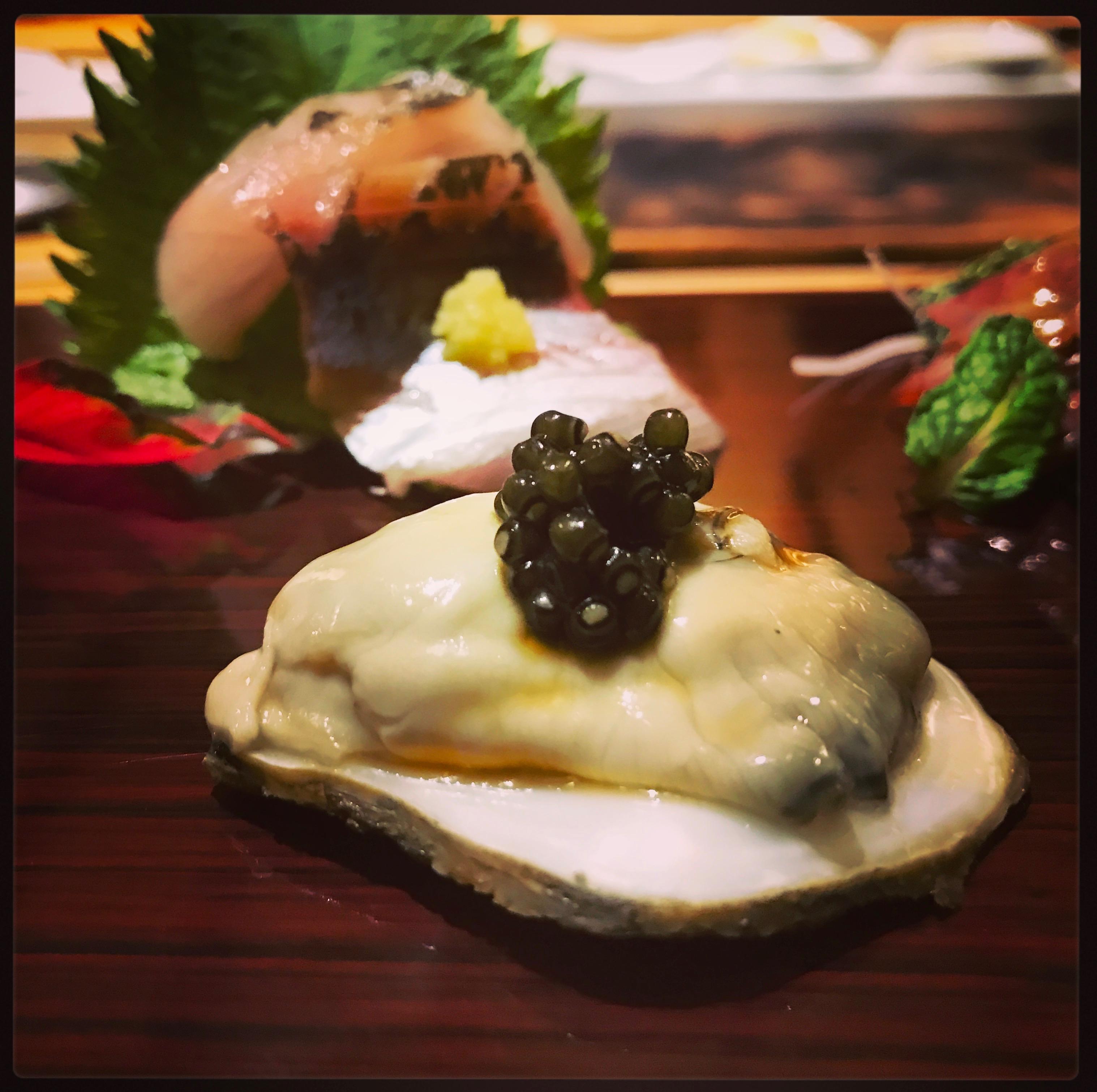 Sushi Ran - omakase - kusshi oyster sashimi