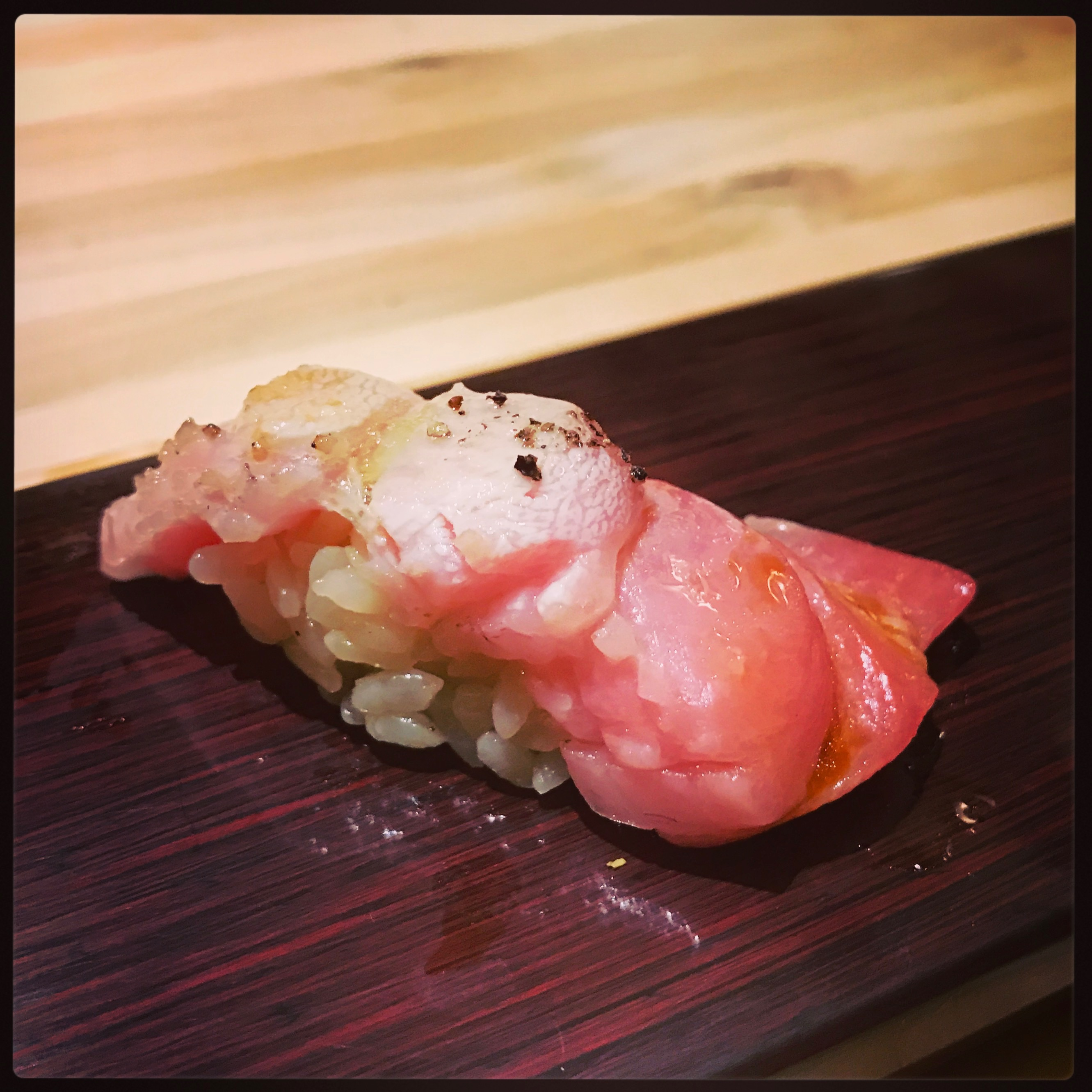 Sushi Ran - omakase - toro kindai-tenku blue fin fatty tuna nigiri