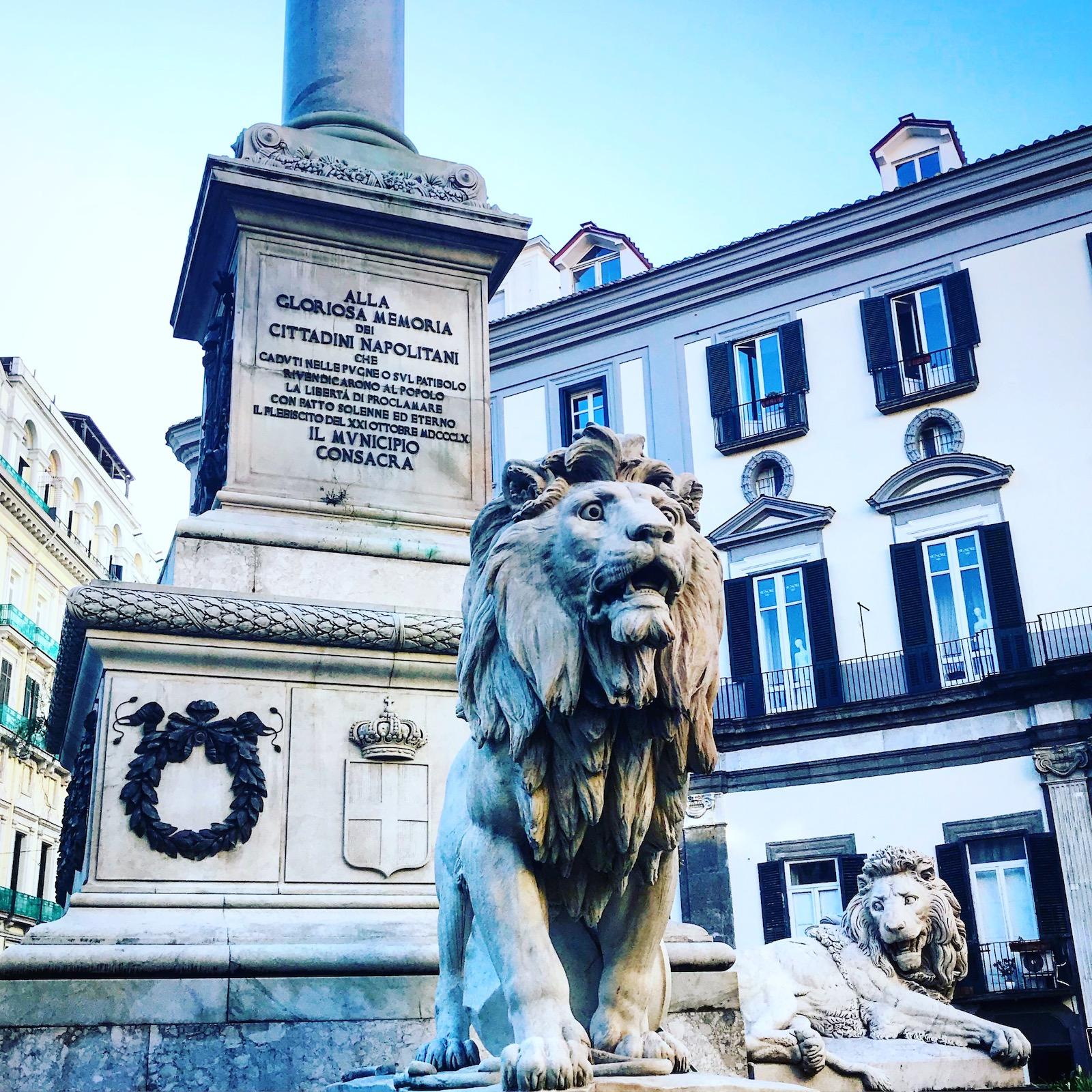 Piazza dei Martiri lions