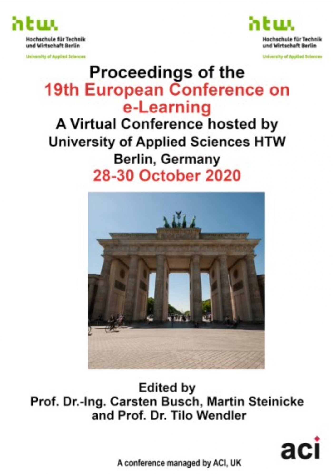 19th European Conference on e-Learning ECEL 2020 Proceedings